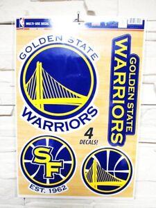 Golden State Warriors 4 Sticker Decal Badges Set NBA Basketball
