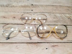 Lot of 3 Vintage 1970's or 80's Glasses Frames  Very Unique