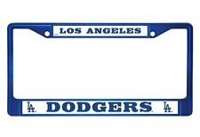 Los Angeles Dodgers Blue Chrome Metal License Plate Frame