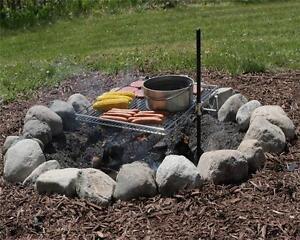Perfect CAMPFIRE GRILL Original BBQ. Camping Fishing Outdoor Backyard Cooking
