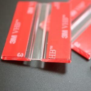 4x 50mm Flexible Hinges – No glue required. Transparent Clear plexiglass