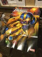 AVENGERS ASSEMBLE Promo Poster, 24 x 36, 2012, MARVEL Thanos, Unused