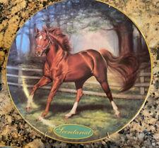 "Danbury Mint ""Secretariat"" Horse Plate 1995 Susie Morton Champion Thoroughbreds"