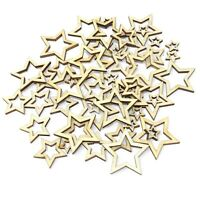 Cut Out Star Plain Wooden Shabby Chic Craft Scrapbook Vintage Confetti Mix Size