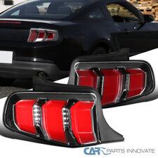 Ford Mustang 10-12 Preto Pérola Led Sequencial Turn Signal Cauda Luz De Freio