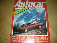 Autocar December Cars, 1980s Transportation Magazines