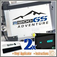 2x R1200GS ADVENTURE Black/Blue BMW ADESIVI R1200 GS PEGATINA AUTOCOLLANT R 1200