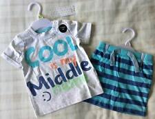 Baby Boys 'Cool Is My Middle Name :)' Cute Summer T-Shirt & Shorts Set/Outfit