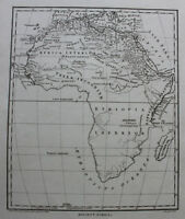 Wilkes Kupferstichkarte von Afrika 1798 Landkarte Geografie Landeskunde  sf