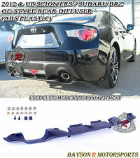 OE-Style Rear Diffuser (ABS) Fits 12-16 Scion FR-S Toyota 86