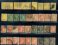 Canada #35/42 used F/XF 1870-1888 Queen Victoria Small Queen cancels,shades etc.