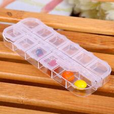 Caja de Almacenamiento Transparente Joyería 12 Cubierta de rejilla extraíble