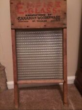 Antique Glass Washboard Empire Glass Canadian Woodenware St. Thomas Decorative