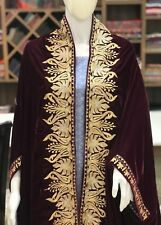 Wine Velvet Cape, Royal Kashmiri Poncho, Women Shawl, Velvet Embroidery Stoles