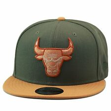 "New Era Chicago Bulls Snapback Hat Olive Green/Wheat For timberland 6"" premium"