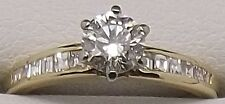 18CT YELLOW & WHITE GOLD NATURAL DIAMOND ENGAGEMENT/DRESS RING VALUED AT $4192