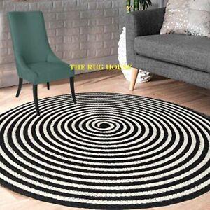 Rug 100% cotton Braided Style Handmade Floor Mat Modern Rustic Look Area Rugs