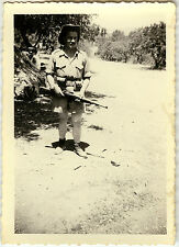 PHOTO ANCIENNE - VINTAGE SNAPSHOT - MILITAIRE ARME FUSIL MAGHREB - MILITARY GUN
