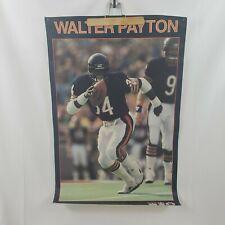 "Vtg 80s Walter Payton Chicago Bears Starline Poster 23x34"" 1987 NFL"