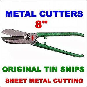 Tin Snips Metal Cutters Sheet Steel Cutting Aluminium Zink Copper Straight Cut