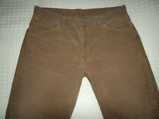 "LEVI'S STRAUSS 507 MEN'S STRAIGHT BROWN CORD JEANS SIZE 36"" WAIST INSEAM LEG 34"""