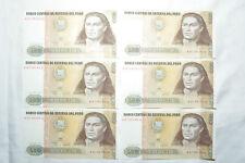 500 peru banknotes ebay 6 x peru 500 intis geldscheine banknote 1987 prgefrisch und fortlaufend selten thecheapjerseys Image collections