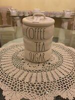 Rae Dunn Coffee Tea Sugar Stackable Canister Set LL White & Black
