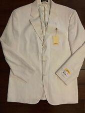 Vintage New w/ Tags Coconut Grove Sport Coat Jacket Cream/White Sz 42 Long