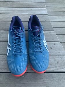 Asics Mens Solution Speed FF Clay Tennis Shoes Blue Size 11.5 (EUR 47, US12.5)