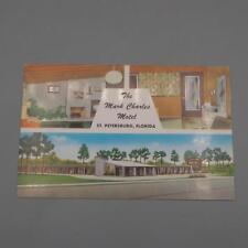 Vintage Mark Charles Motel St. Petersburg Florida Unused Postcard