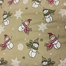 Snowman Flannel Sheets Twin Size Flat / Fitted 100% Cotton Home Target