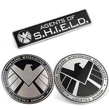 1pc Avengers Agents of SHIELD 3D Chrome Metal Car Sticker Badge Emblem