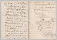 REGNO DELLE DUE SICILIE - RARO DOCUMENTO SU CARTA BOLLATA DA 12 GRANA - 1855