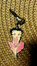 Betty Boop Pink Cha Cha dress cell phone dust plug