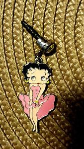Betty Boop Pink Cha Cha dress cell phone dust plug
