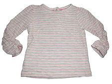 C & A tolles Langarm Shirt Gr. 68 weiß-grün-rosa geringelt !!