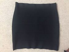 BCBG Maxazria Stretch Black Mini Skirt Large