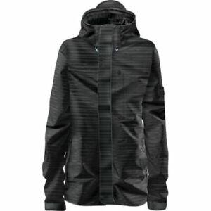 Adidas Slub Stripe Two-Layer Recco G88890 Black Snowboarding Women's Jacket