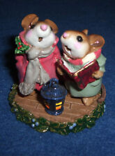 WEE FOREST FOLK 1991 Holiday Carolling MICE MOUSE Figurine Retired SIGNED HTF