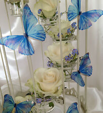 Wedding Table Drape Decorations 10 Sparkling 3D Lilac Blue Butterflies Removable