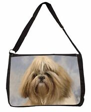 Shih Tzu Dog Large Black Laptop Shoulder Bag School/College, AD-SZ9SB