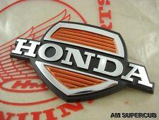 Genuine Honda C50 C65 C70 C90 EMBLEM FRONT COVER LEGSHIELD // NOS Japan