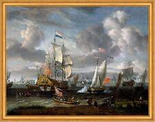 An English Yacht saluting a Dutch Man-of-War Abraham Storck Rotterdam B A1 00199