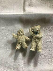 VINTAGE GERMAN BISQUE SNOW BABY AND BISQUE POLAR BEAR