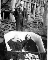 Antique Post Mortem Together Forever Casket Photo 532b Odd Strange & Bizarre