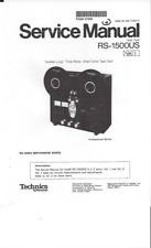 Technics Service Manual für RS- 1500 US  Vol.1 und 2  Copy