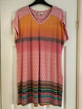 Next Pink And Orange Tunic Top Size 16