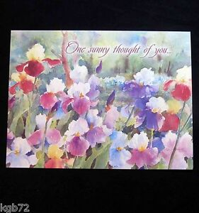 Leanin Tree Easter Greeting Card Watercolor Flowers Multi Color E1