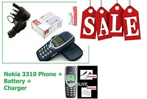 Original Nokia 3310 MOBILE PHONE WARRANTY FIRST CLASS UK LONDON SELLER / SALES
