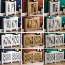 Oxford Radiator Cover White Unfinished Traditional Wood Cabinet Grill Furniture